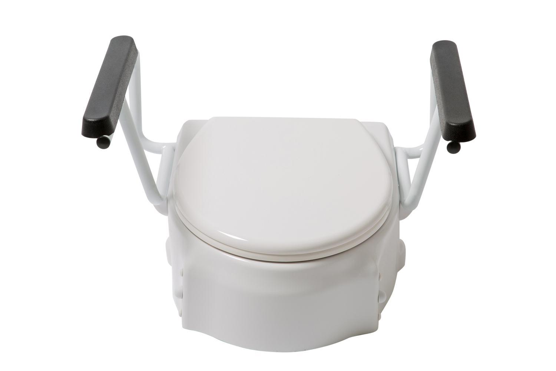 Toilettensitzerhöhung PALMA mit Armlehnen und Deckel