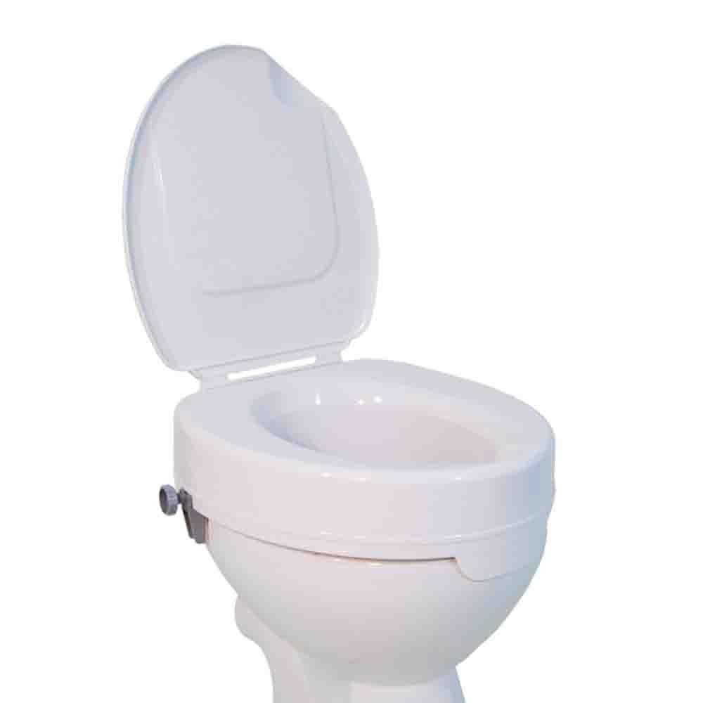 Toilettensitzerhöhung CLEAN mit Deckel, Höhe 15 cm