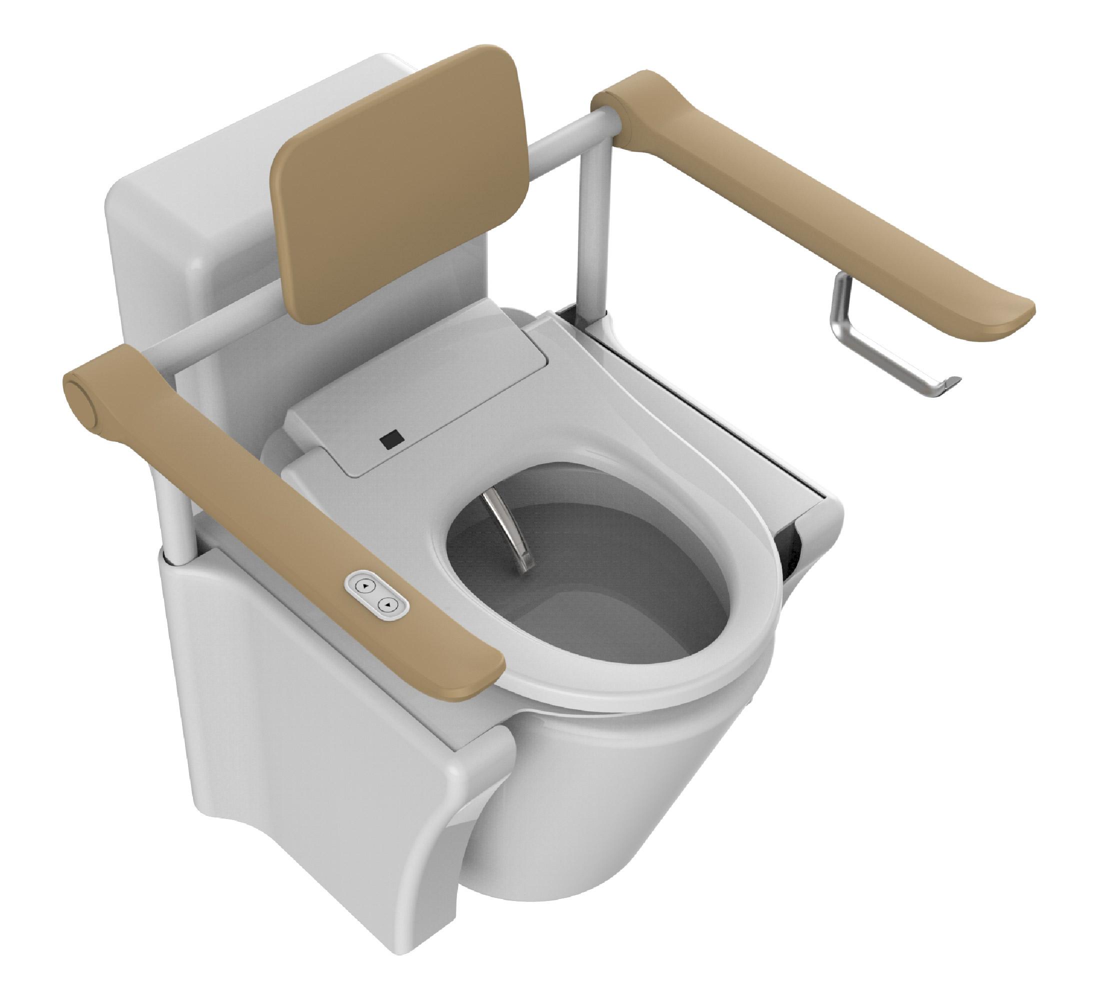 Vebra Lifttoilette & Aufstehhilfe Ninja mit integriertem Dusch WC