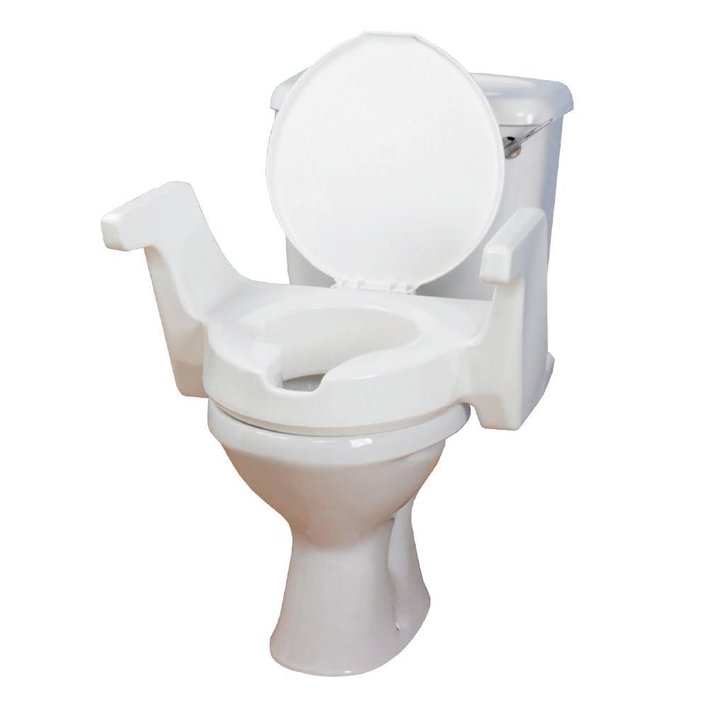 Toilettensitzerhöhung mit Armlehnen und Deckel